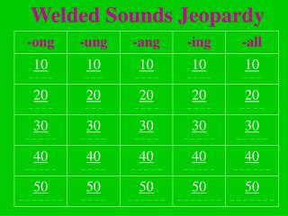 Welded Sounds Jeopardy