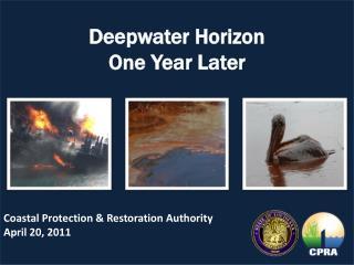 Deepwater Horizon   One Year Later
