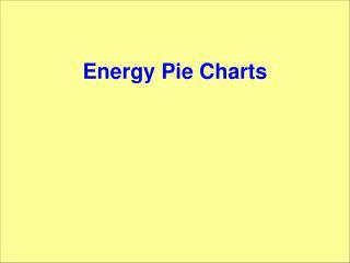 Energy Pie Charts