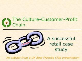The Culture-Customer-Profit Chain