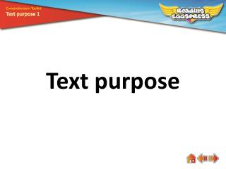 Text purpose