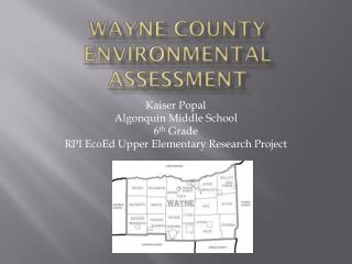 Wayne County Environmental Assessment