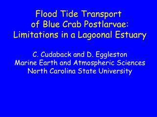 Flood Tide Transport  of Blue Crab Postlarvae: Limitations in a Lagoonal Estuary