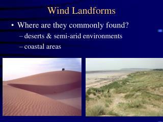 Wind Landforms