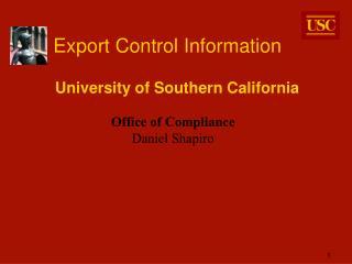 Export Control Information