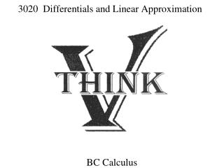 3020   Differentials and Linear Approximation