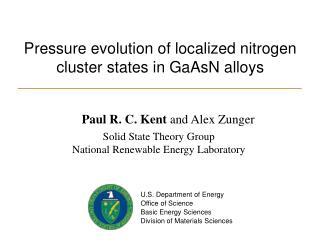 Pressure evolution of localized nitrogen cluster states in GaAsN alloys