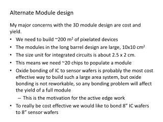 Alternate Module design