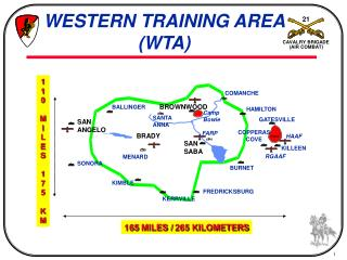 WESTERN TRAINING AREA (WTA)