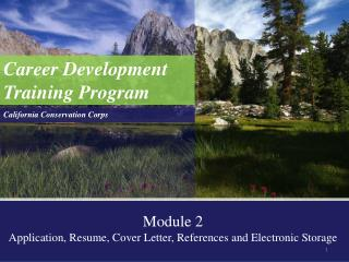 Career Development Training Program