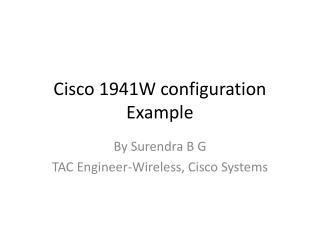 Cisco  1941W  configuration Example