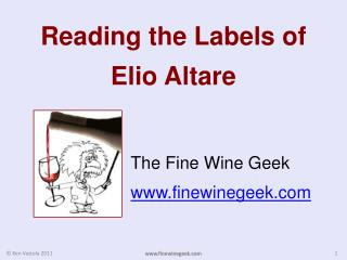 Reading the  Labels of  Elio Altare