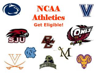 NCAA Athletics Get Eligible!
