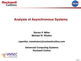 Analysis of Asynchronous Systems