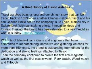 A Brief History of Tissot Watches