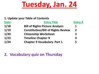 Tuesday, Jan. 24