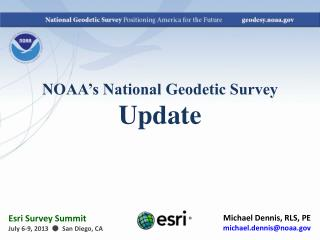 NOAA's National Geodetic Survey Update