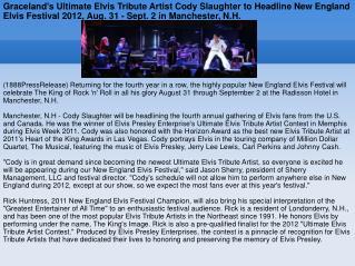 Graceland's Ultimate Elvis Tribute Artist Cody Slaughter to