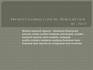 Pruritus Global Clinical Trials Review, H1, 2012