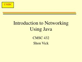 Introduction to Networking Using Java