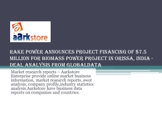 Rake Power Announces Project Financing of $7.5 Million