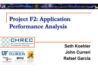Project F2: Application Performance Analysis