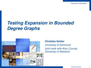 Testing Expansion in Bounded Degree Graphs