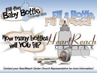 Contact your HeartReach Center Church Representative for more information!
