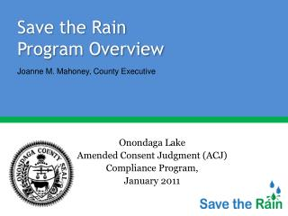 Save the Rain  Program Overview