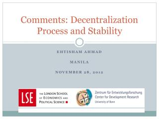 Comments: Decentralization Process and Stability