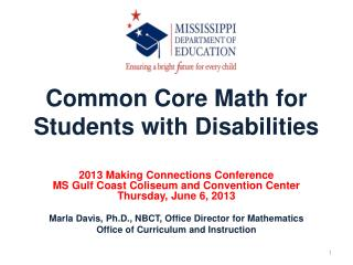 Common Core Math for Students with Disabilities