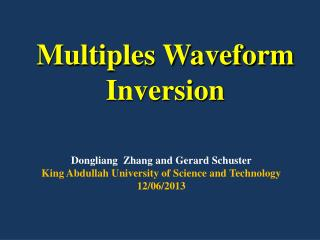 Multiples Waveform  Inversion