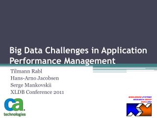Big Data Challenges in Application Performance Management
