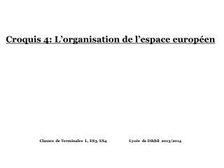 Croquis 4: L'organisation  de l'espace  européen