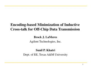 Encoding-based Minimization of Inductive  Cross-talk for Off-Chip Data Transmission