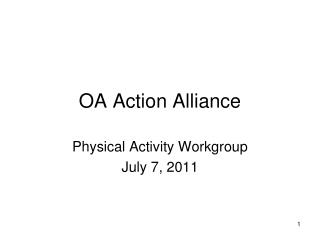 OA Action Alliance