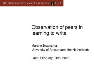 Observation  of  peers  in  learning  to  write