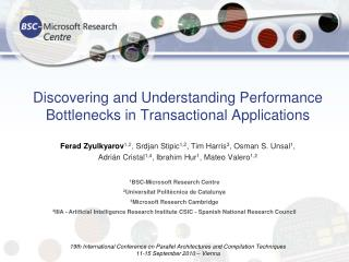 Discovering and Understanding Performance Bottlenecks in Transactional Applications