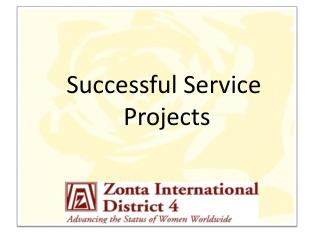 Successful Service  Projects