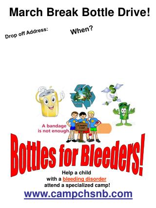 Bottles for Bleeders!