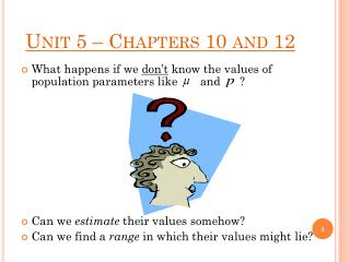 Unit 5 – Chapters 10 and 12