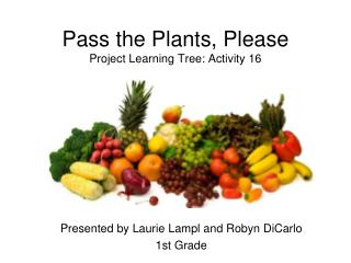 Pass the Plants, Please Project Learning Tree: Activity 16