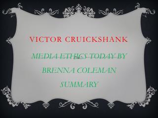 VICTOR CRUICKSHANK