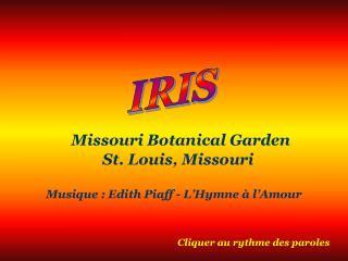 Missouri Botanical Garden St. Louis, Missouri