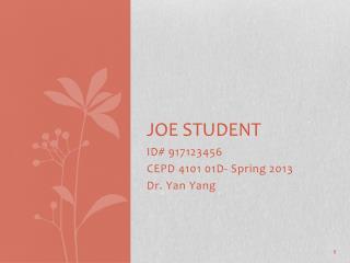 Joe Student