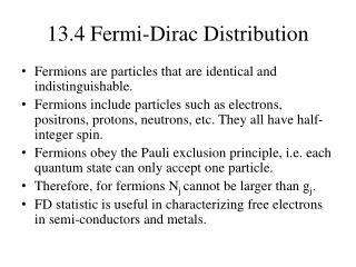13.4 Fermi-Dirac Distribution