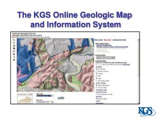 The KGS Online Geologic Map  and Information System