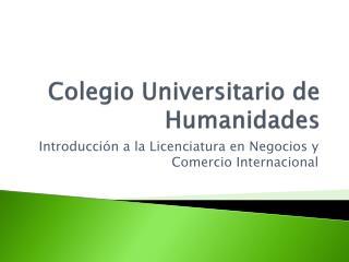 Colegio Universitario de Humanidades