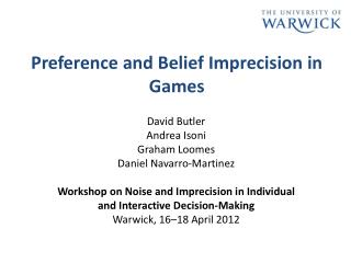 Preference and Belief Imprecision in Games