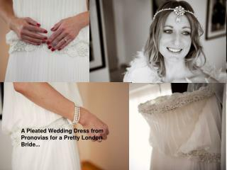Pleated Wedding Dress from Pronovias for tiffanybridals.org